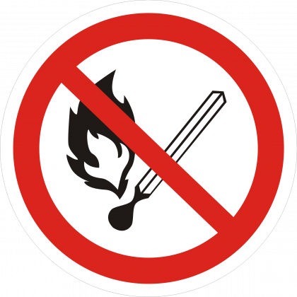 Запрещается пользоваться огнем