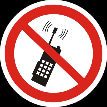 Запрещается пользоваться телефоном