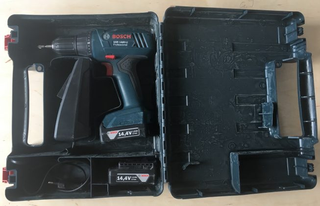 Открытый кейс шуруповерта BOSCH GSR 1440-Li Professional