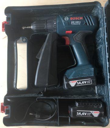 Размещение элементов в кейсе BOSCH GSR 1440-Li Professional