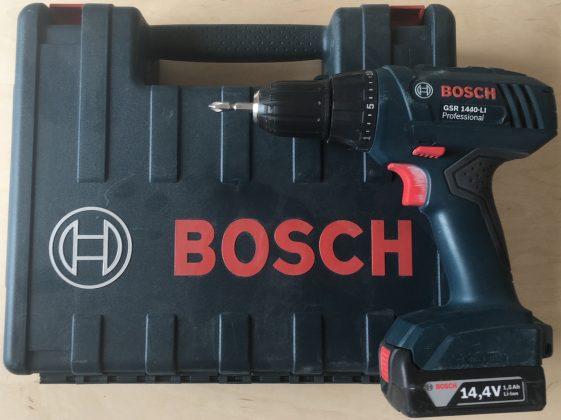 Соотношение размеров кейса и шуруповерта BOSCH GSR 1440-Li Professional