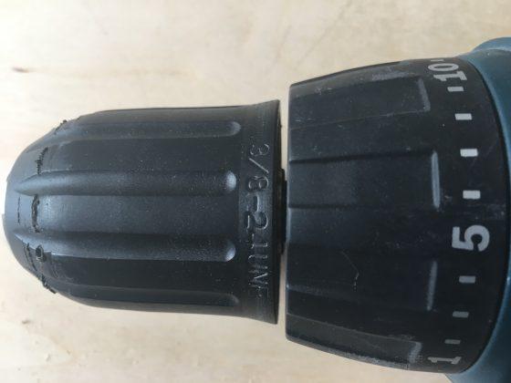 Зазор в 3 мм между корпусом и патроном шуруповерта
