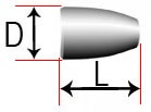 Сферический асимметричный ролик (со скосом одной стороны)