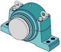 Крупногабаритные разъемные корпуса стационарные SDG под подшипники сферические на втулке закрепительной для валов 125…530 мм, при втулке стяжной на 135…600 мм, с отверстием цилиндрическим 140…710 мм.