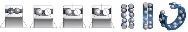 Схемы установки двухрядных подшипников