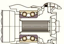 Схематичное изображение ступичного подшипника