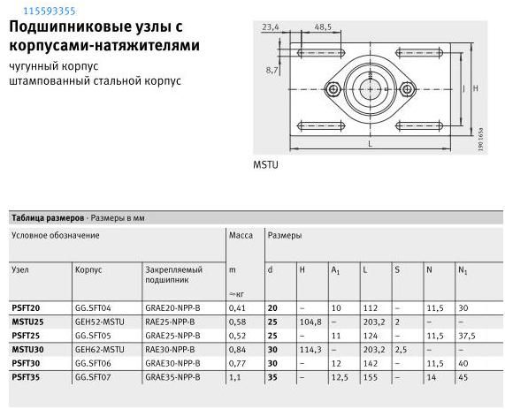 Фланцевый подшипник (подшипник с фланцем) - 32