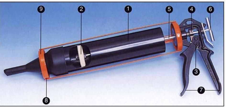 Пистолет для затирки швов камня | 2