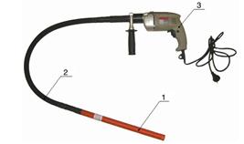 Насадка вибратор для бетона на дрель | 2