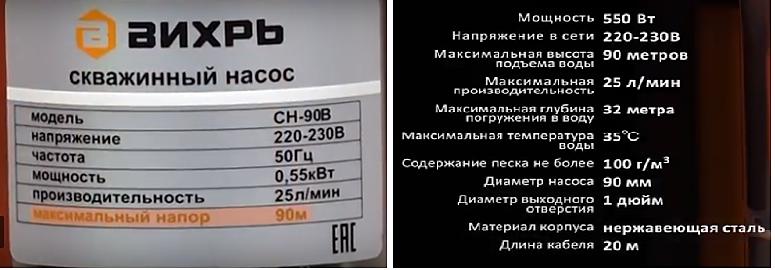 Насос Вихрь СН 90В | 2