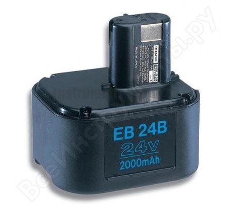 Аккумулятор EB24B для аккумуляторного перфоратора DH24DV (24 В; 2 А8ч; Ni-Cd) Hitachi 316959
