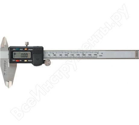 Цифровой штангенциркуль TOPEX 150 мм 31C628