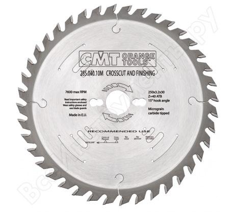 Диск пильный по дереву (250x30x3.2/2.2 мм; Z40) для циркулярных пил CMT 285.040.10M
