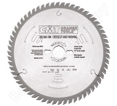 Диск пильный по дереву (250x30x3.2/2.2 мм; Z60) для циркулярных пил CMT 285.060.10M