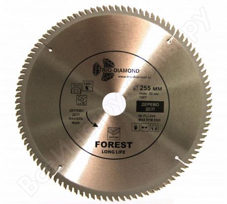 Диск пильный по дереву (255х30 мм; 100Т) TRIO-DIAMOND FLL834