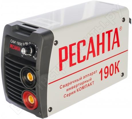 Инверторный сварочный аппарат Ресанта САИ190К 65/36