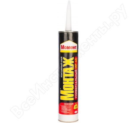 """Клей-герметик """"жидкие гвозди"""" 12 MP-40 МОНТАЖ универсальный, 400г Момент 782493"""