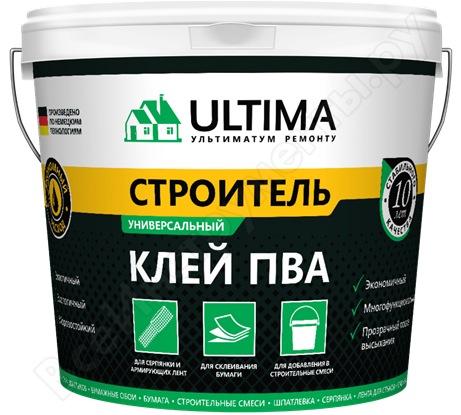 Клей ПВА ULTIMA СТРОИТЕЛЬ ведро 0,9кг ULTSTR09
