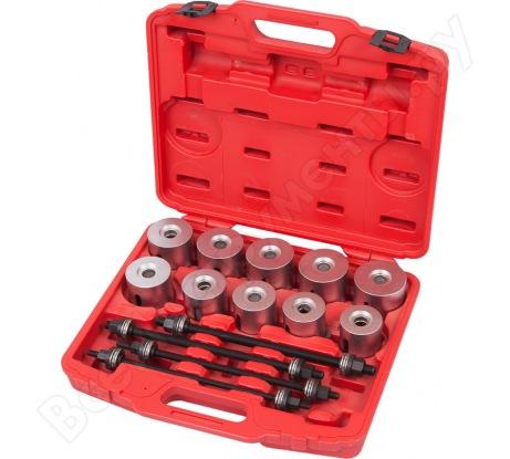 Набор оправок для монтажа и демонтажа сайлентблоков, 24 предмета МАСТАК 110-20024C