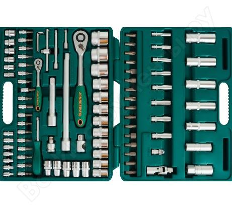 """Набор торцевых головок 1/4""""DR 4-14 мм и 1/2""""DR 10-32 мм, 94 предмета, Jonnesway S04H52494S"""
