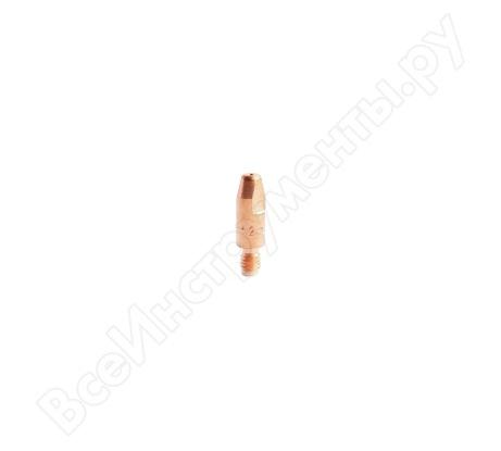 Наконечник токопроводящий (E-Cu; М6х28; 1.2 мм) для горелок MIG/MAG Сварог ICU0004-12