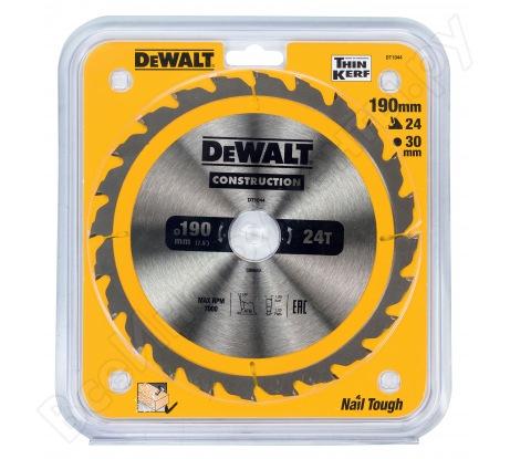 Пильный диск CONSTRUCT (190х30 мм; 24 ATB) Dewalt DT1944
