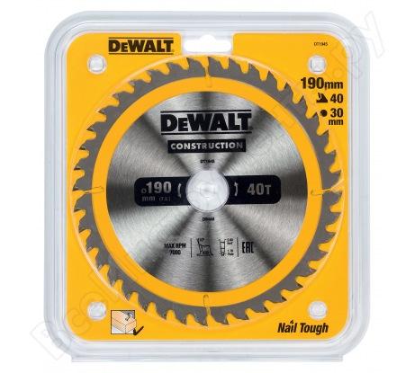 Пильный диск CONSTRUCT (190х30 мм; 40 ATB) Dewalt DT1945