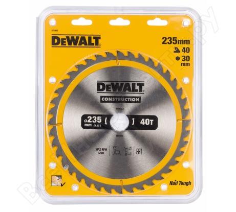 Пильный диск CONSTRUCT (235х30 мм; 40 ATB) Dewalt DT1955