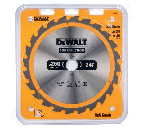 Пильный диск CONSTRUCT (250х30 мм; 24 ATB) Dewalt DT1956