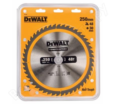 Пильный диск CONSTRUCT (250х30 мм; 48 ATB) Dewalt DT1957