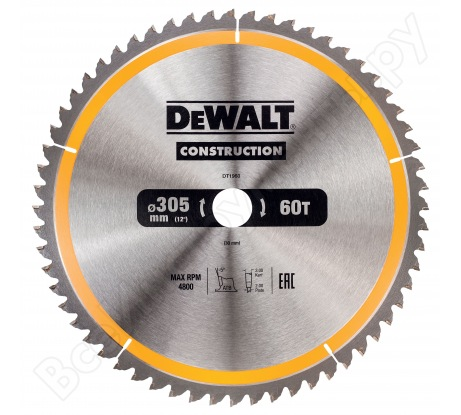 Пильный диск CONSTRUCT (305х30 мм; 60 ATB) Dewalt DT1960