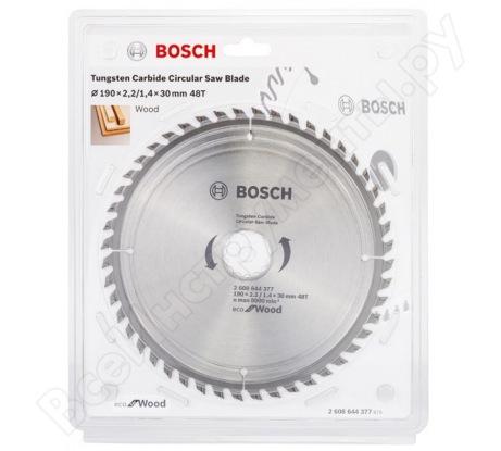 Пильный диск ECO WOOD (190x30 мм; 48T) Bosch 2608644377