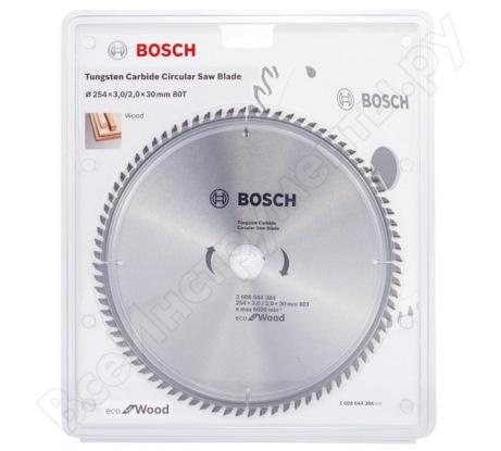 Пильный диск ECO WOOD (254x30 мм; 80T) Bosch 2608644384