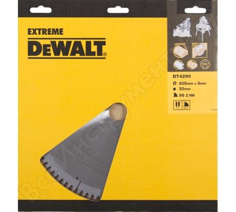 Пильный диск EXTREME по дереву (305х30 мм; 96 TFZ) Dewalt DT4290