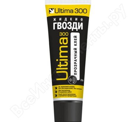 Ремонтно-монтажный прозрачный клей ULTIMA 300 тюбик ADHES30030