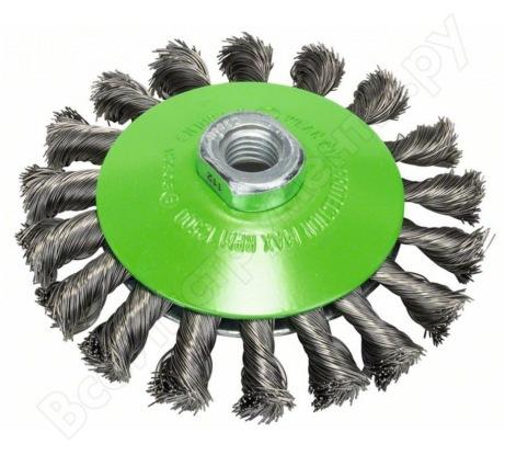 Щетка коническая (115 мм; М14) витая INOX Bosch 2608622109
