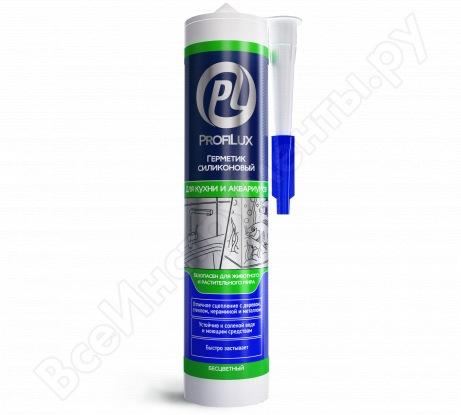 Силиконовый герметик для кухни и аквариумов Профилюкс 300мл бесцветный LBS620TR