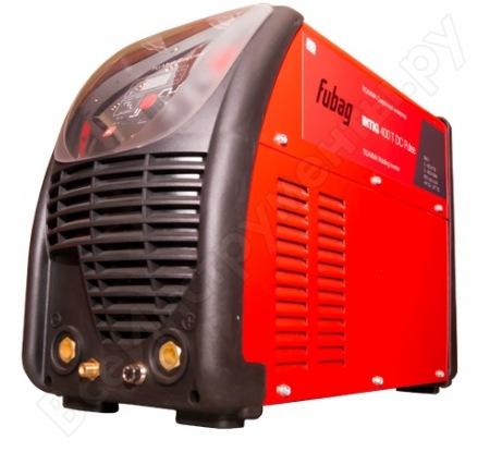 Сварочный инвертор FUBAG INTIG 400 T AC/DC PULSE с горелкой и газовым шлангом, блоком жидкостного охлаждения и тележкой