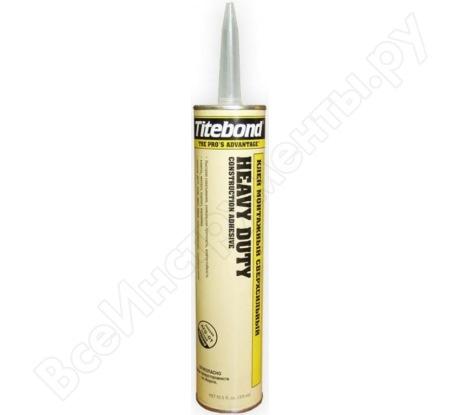Сверхсильный монтажный клей Titebond Heavy Duty желтый картридж 5261