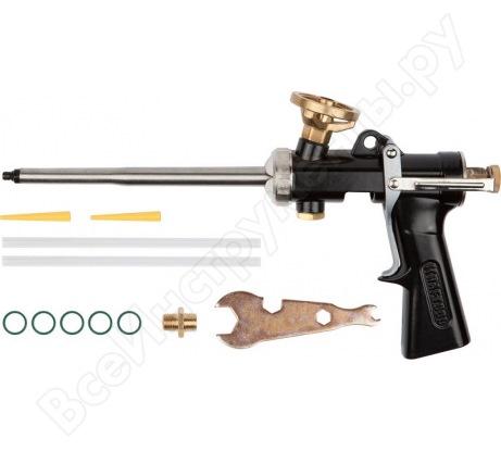 Цельнометаллический пистолет для монтажной пены KRAFTOOL INDUSTRIE 06853