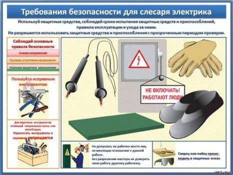 Техника безопасности при работе с электрооборудованием - 2