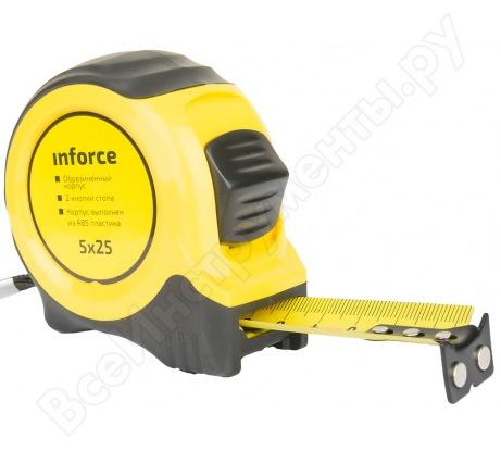 Измерительная рулетка Inforce 5х25мм с магнитным крюком 06-11-07