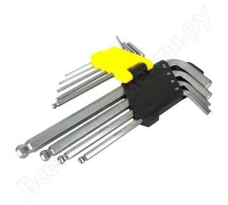 Набор длинных имбусовых ключей с шаром Inforce 9 шт 55633