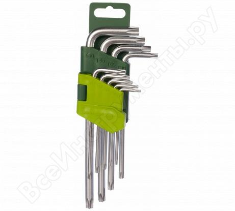 Набор ключей TORX 9 шт с отверстием ДТ/40 Дело Техники 563591