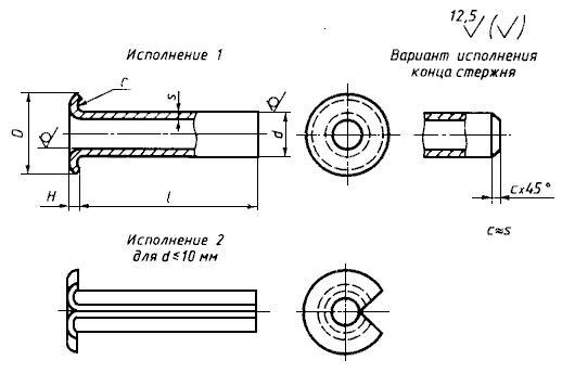 ГОСТ 12638-80 Заклепки пустотелые со скругленной головкой. Технические условия (с Изменениями N 1, 2)