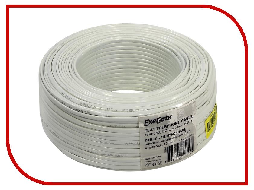 Сетевой кабель ExeGate CCA 4 провода Бухта 100m White