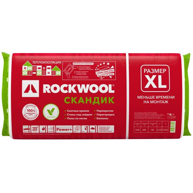 Теплоизоляция Rockwool Лайт Баттс Скандик 1200х600х100мм