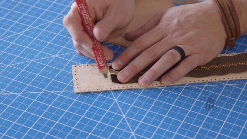 Делаем сумку для инструментов из кожи | 15