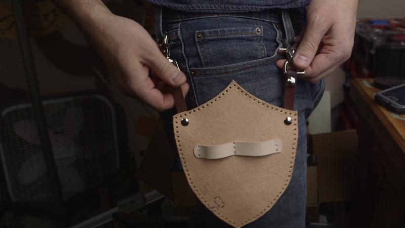 Делаем сумку для инструментов из кожи   21