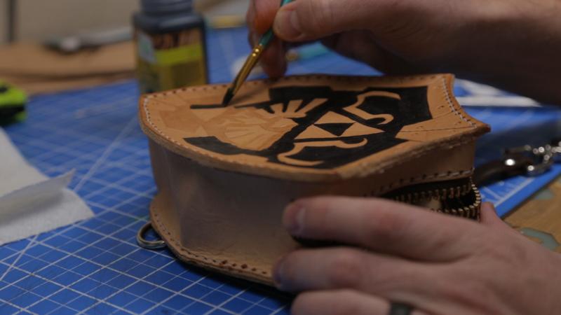 Делаем сумку для инструментов из кожи | 28